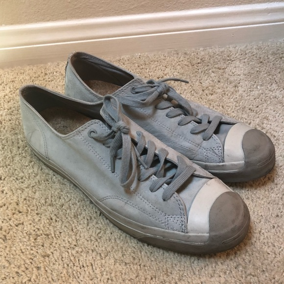 Converse Other - GRAY CONVERSE JACK PURCELL NUBUCK OXFORD